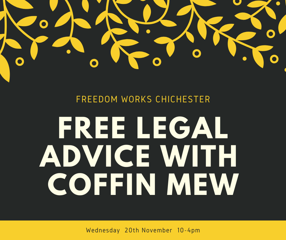 Free Legal Advice With Coffin Mew Chichester November