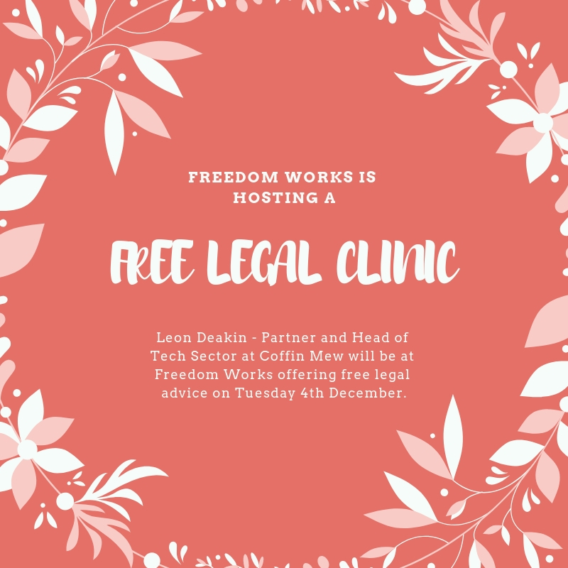 FREE LEGAL CLINIC WITH COFFIN MEW
