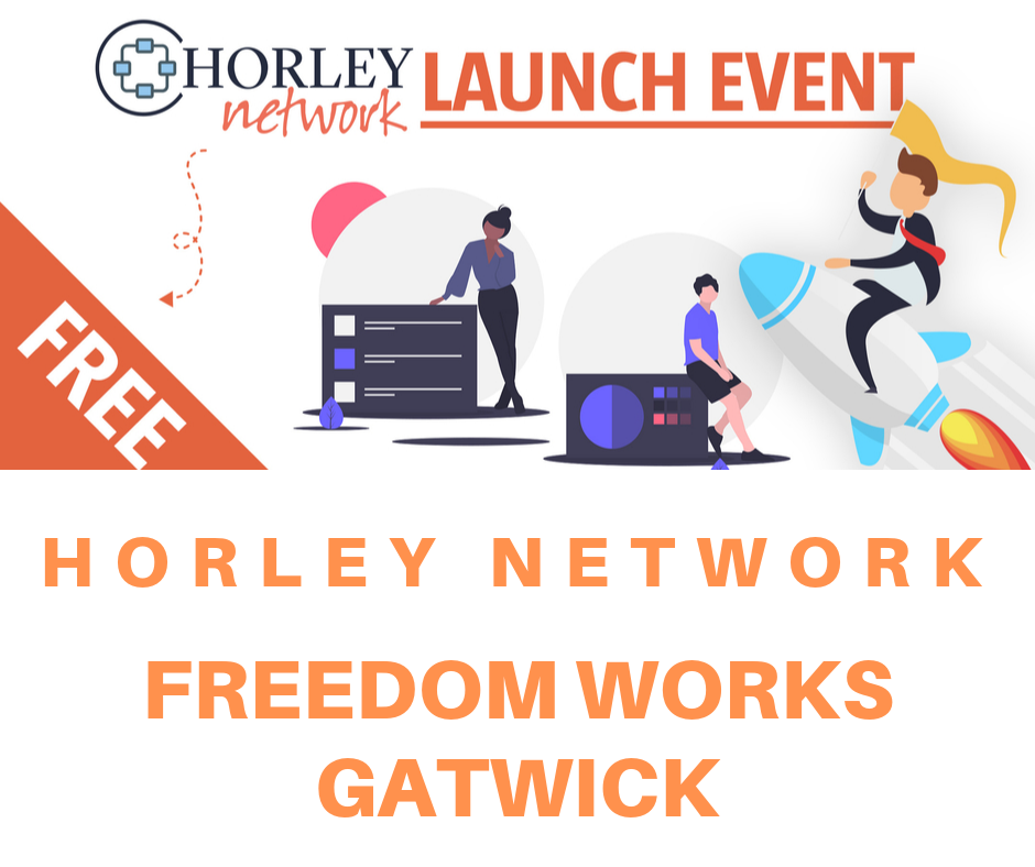 Horley Network launch night at Freedom Works Gatwick
