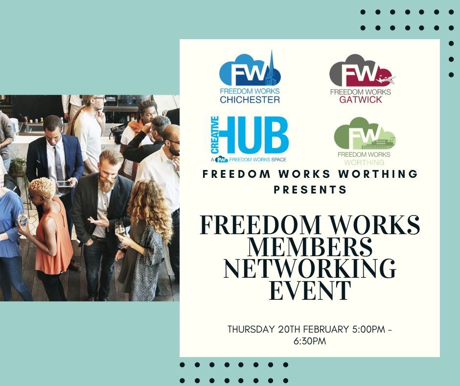 Freedom Works Member's Networking Evening - ALL Freedom Works Members are Invited!